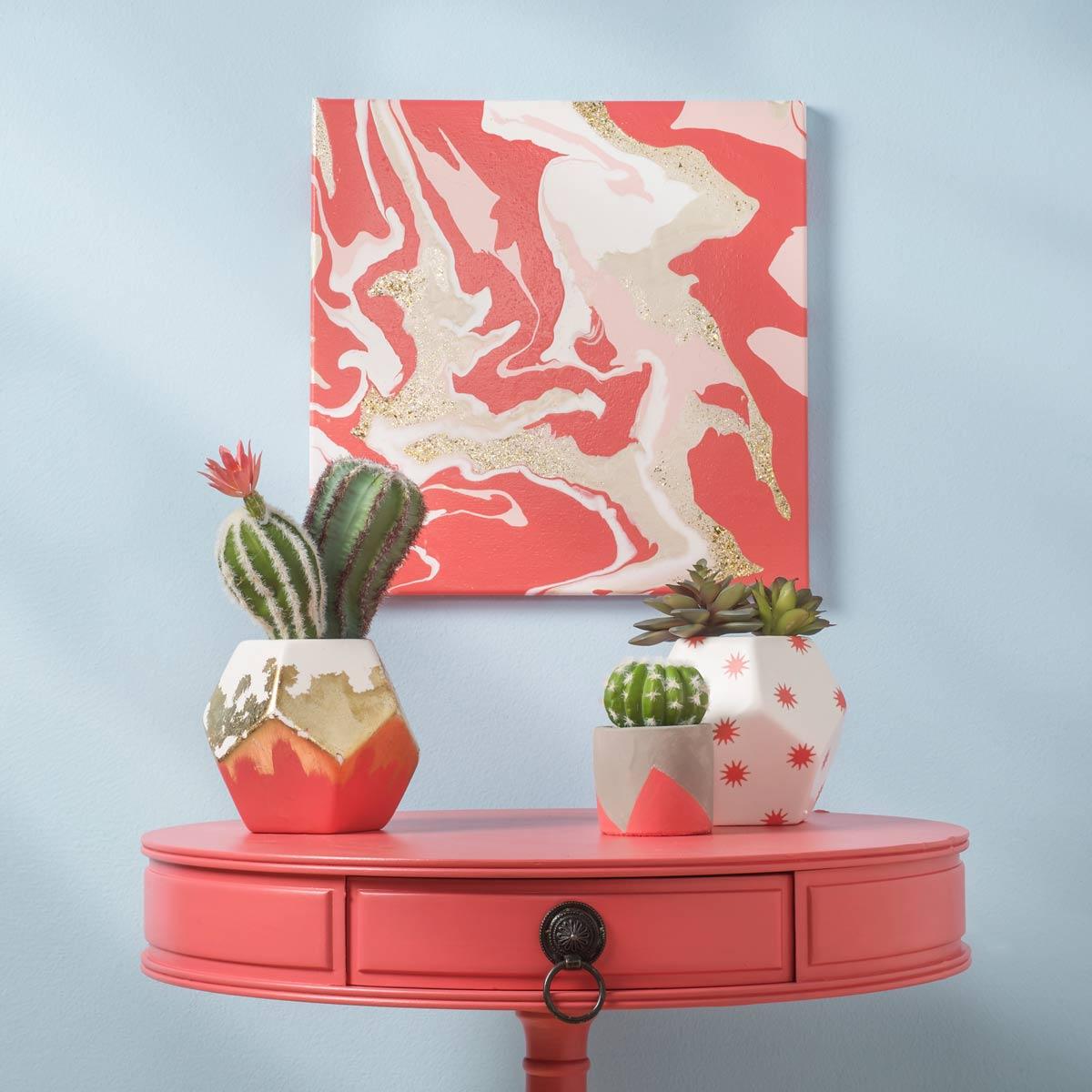 Marbled Canvas DIY Wall Decor