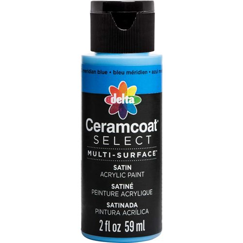 Delta Ceramcoat ® Select Multi-Surface Acrylic Paint - Satin - Meridian Blue, 2 oz. - 04023