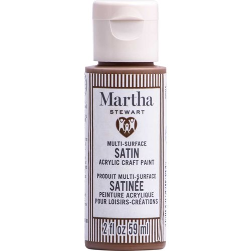 Martha Stewart ® Multi-Surface Satin Acrylic Craft Paint CPSIA - Tree Trunk Brown, 2 oz. - 5954