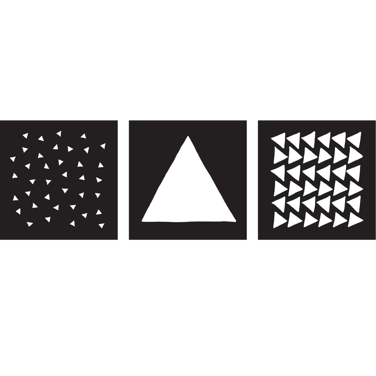 FolkArt ® Craft Stencils - Value Packs - Triangles - 25621