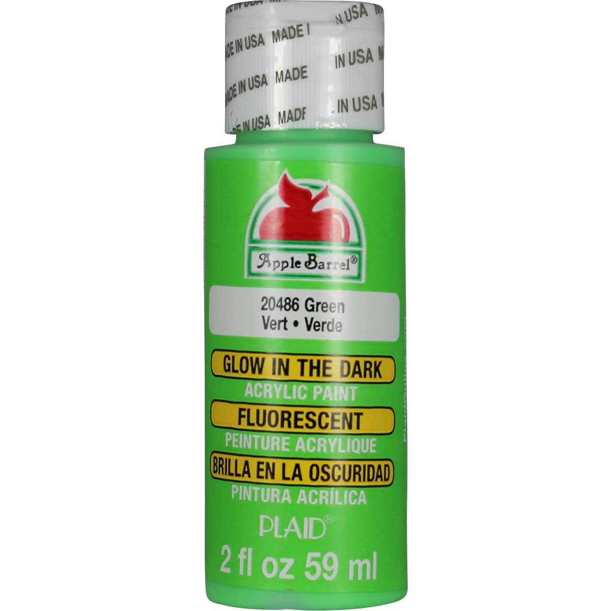 Apple Barrel ® - Glow-In-The-Dark Green, 2 oz. - 20486