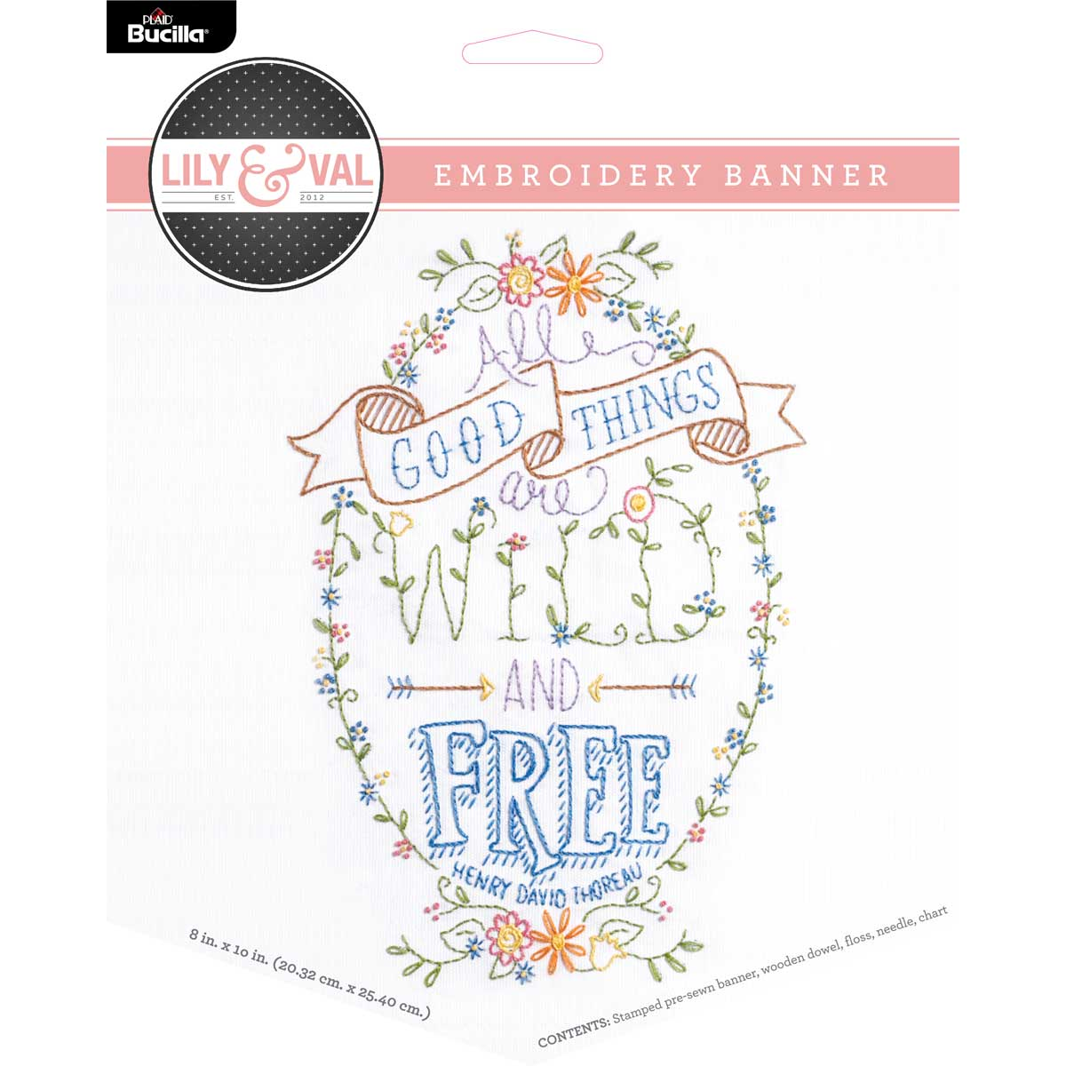 Bucilla ® Lily & Val™ Stamped Emboidery - Banners - Wild and Free - 49131E