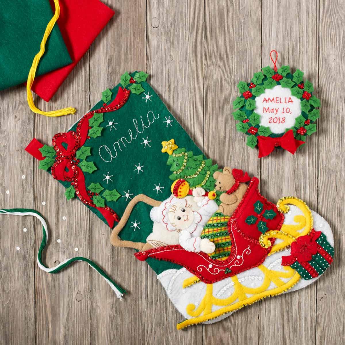 Bucilla ® Seasonal - Felt - Stocking Kits - Christmas Baby