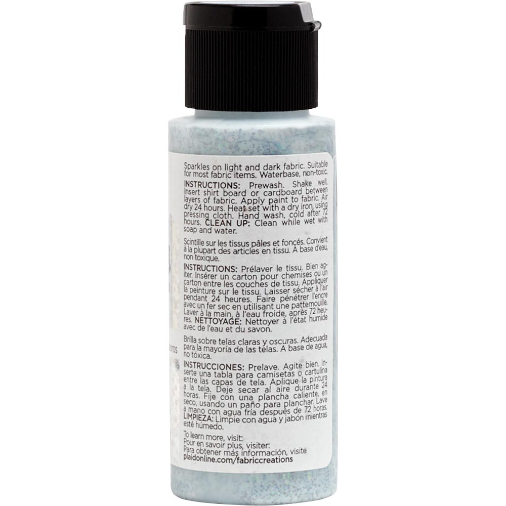 Fabric Creations™ Fantasy Glitter™ Fabric Paint - Meteor Shower, 2 oz. - 26356