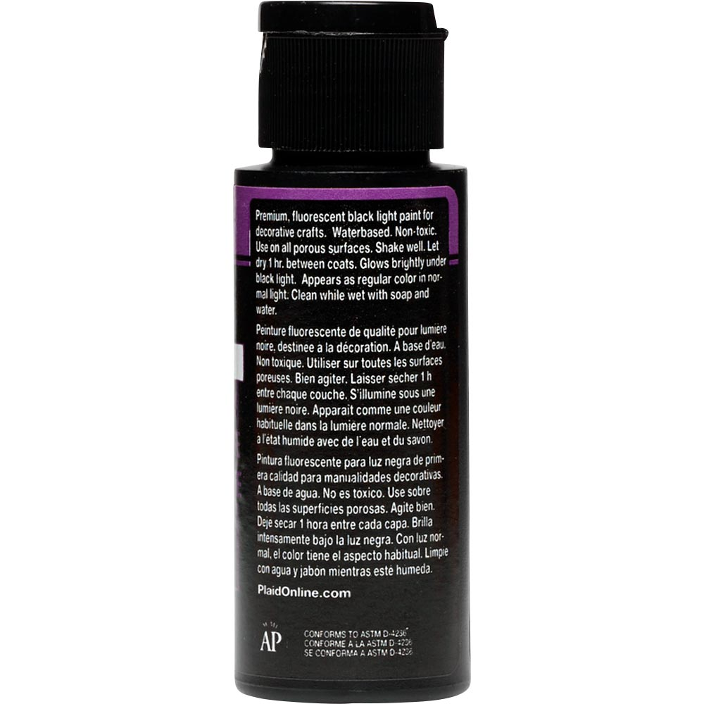 FolkArt ® Acrylic Colors - Fluorescent Glow - Purple, 2 oz. - 2720