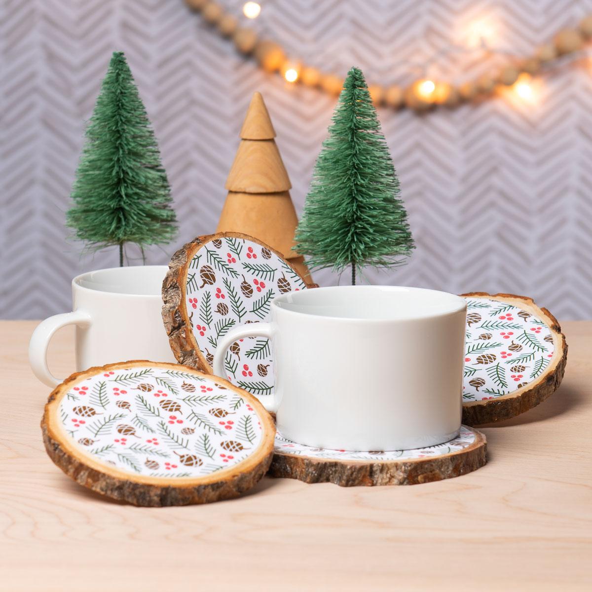 Mod Podge Patterned Coasters