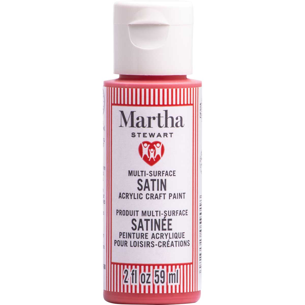 Martha Stewart ® Multi-Surface Satin Acrylic Craft Paint CPSIA - Strawberry, 2 oz. - 5901