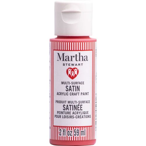 Martha Stewart ® Multi-Surface Satin Acrylic Craft Paint CPSIA - Strawberry, 2 oz. - 5901