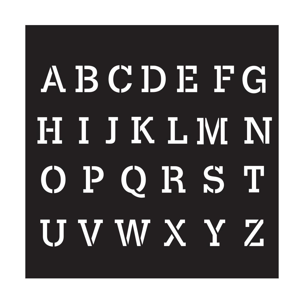 FolkArt ® Painting Stencils - Small - Serif Alphabet - 13226