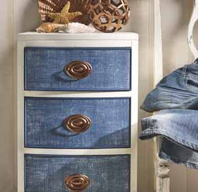 Faux Denim Side Table