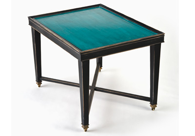 Turquoise and Black Table