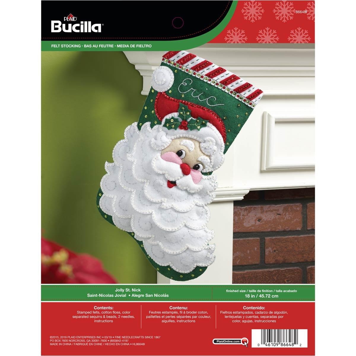 Bucilla ® Seasonal - Felt - Stocking Kits - Jolly Saint Nick