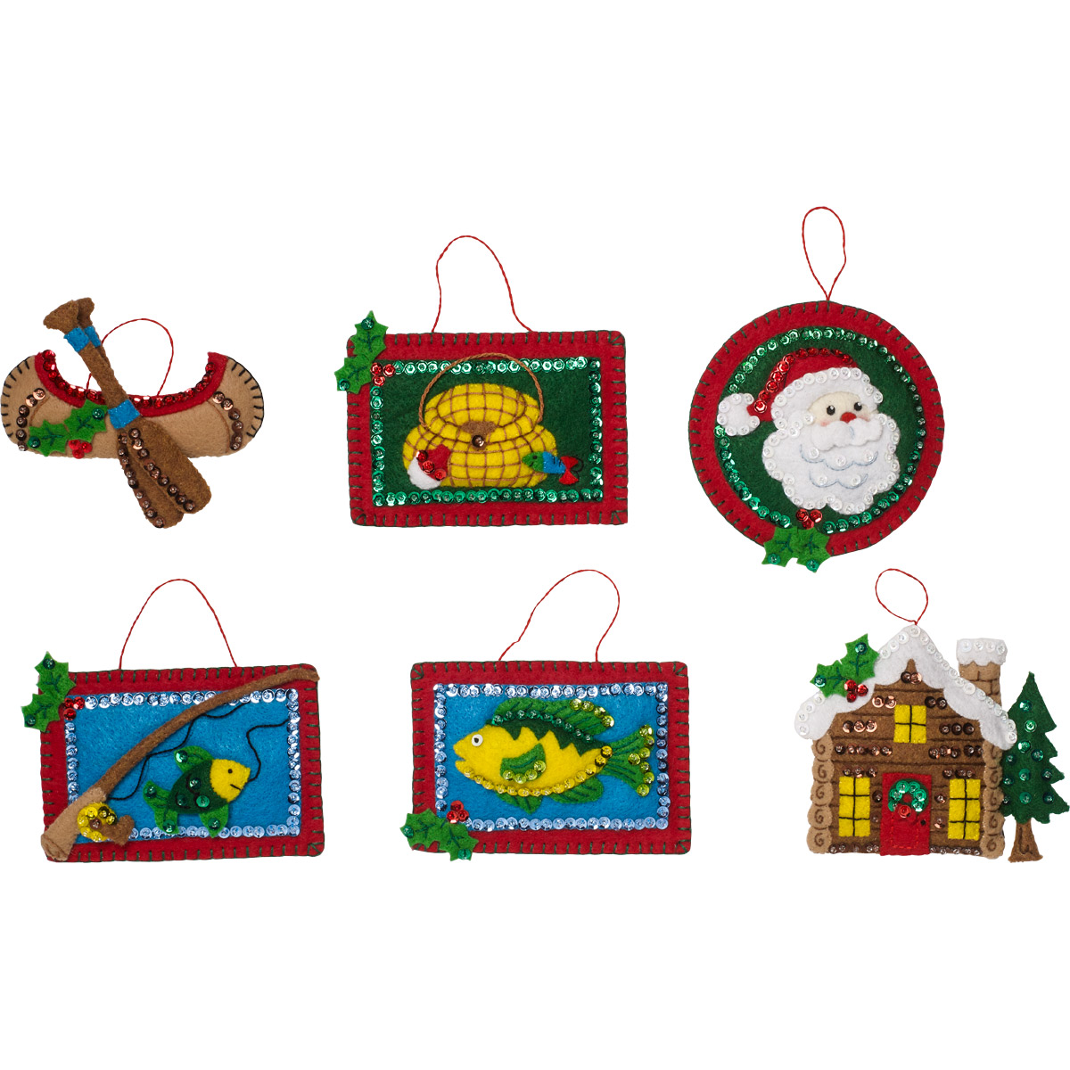 Bucilla ® Seasonal - Felt - Ornament Kits - Lodge Santa