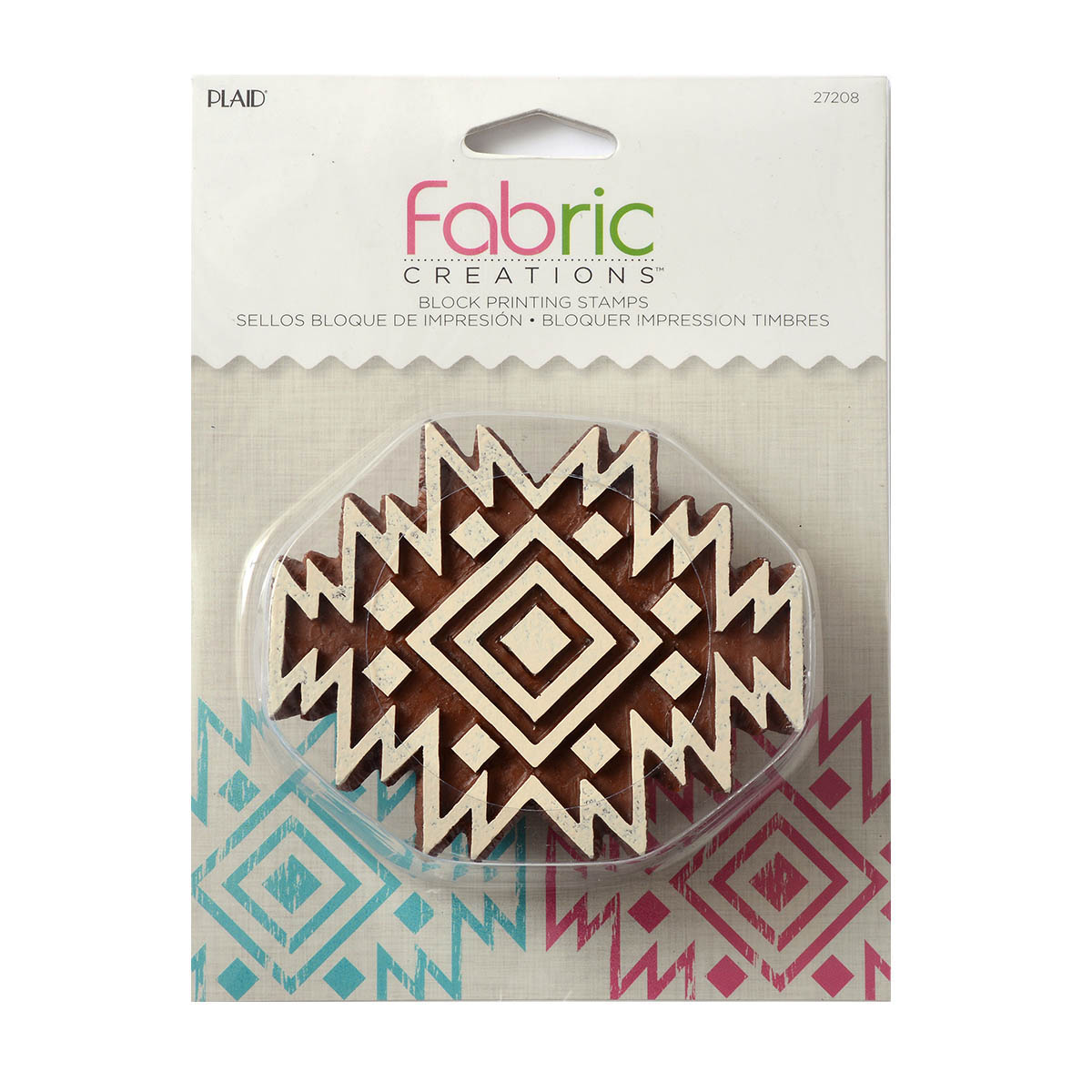 Fabric Creations™ Block Printing Stamps - Medium - Aztec Tile