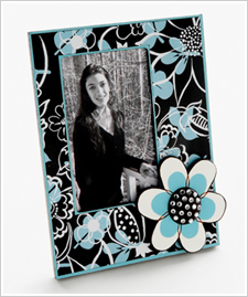 Elegant Photo Frame with Flower