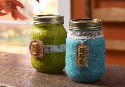 Fall Gift Mason Jars with Mod Podge