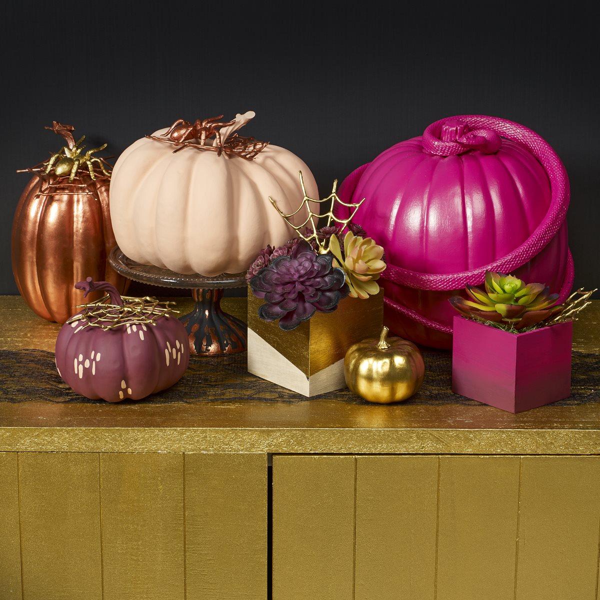 Jewel-Toned Pumpkins & Creatures