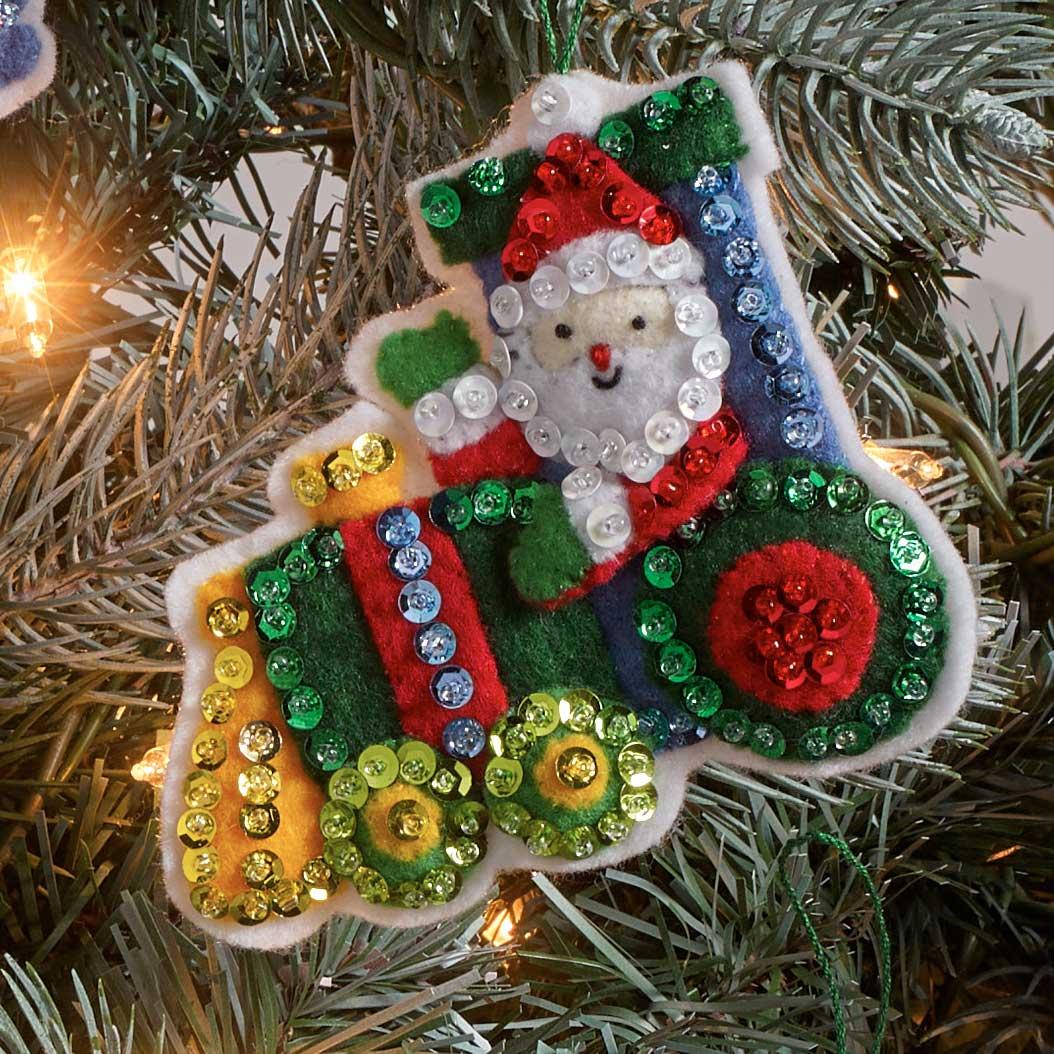 Bucilla ® Seasonal - Felt - Ornament Kits - Santa on the Go - 89281E