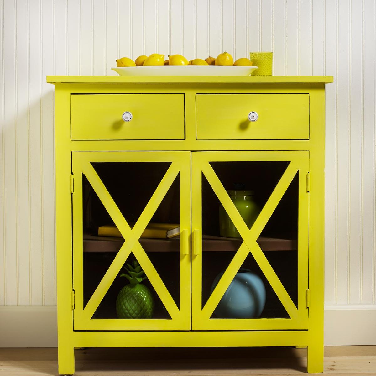 Yellow Lemon Cabinet