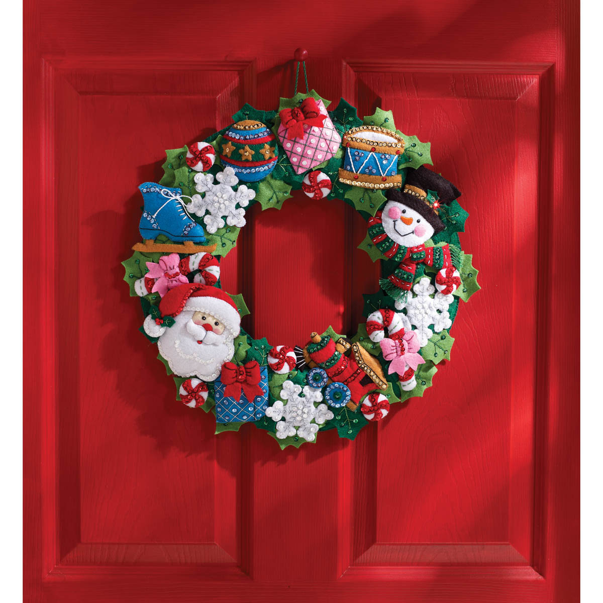 Bucilla ® Seasonal - Felt - Home Decor - Christmas Toys Wreath