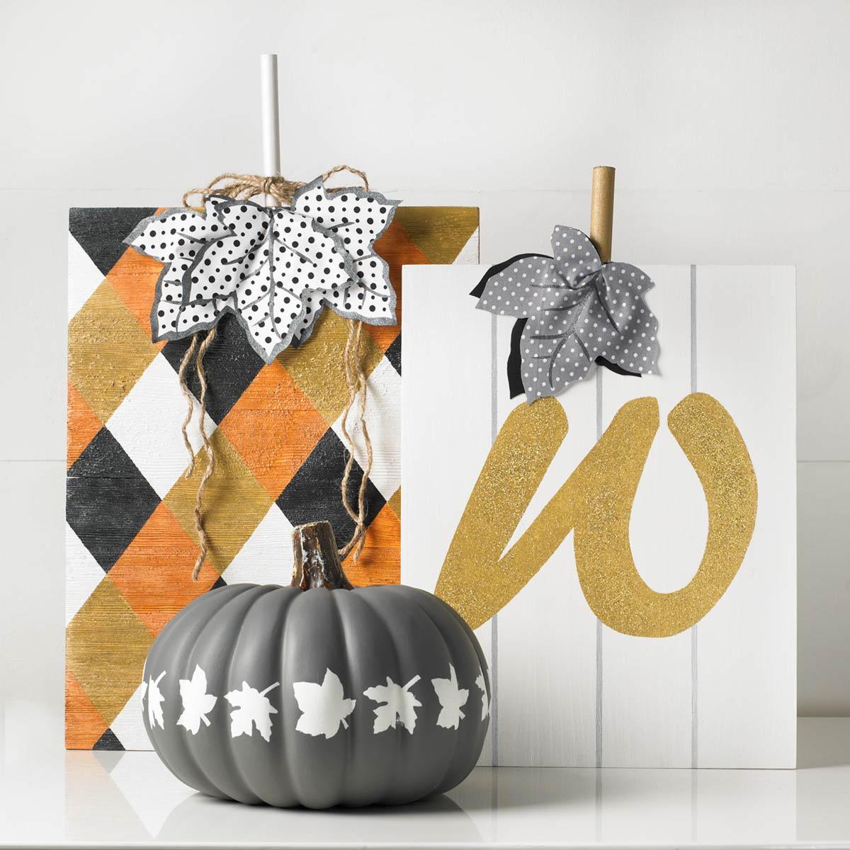 Harvest Harlequin Plaque