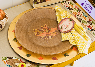 Thanksgiving Plate & Charger Set