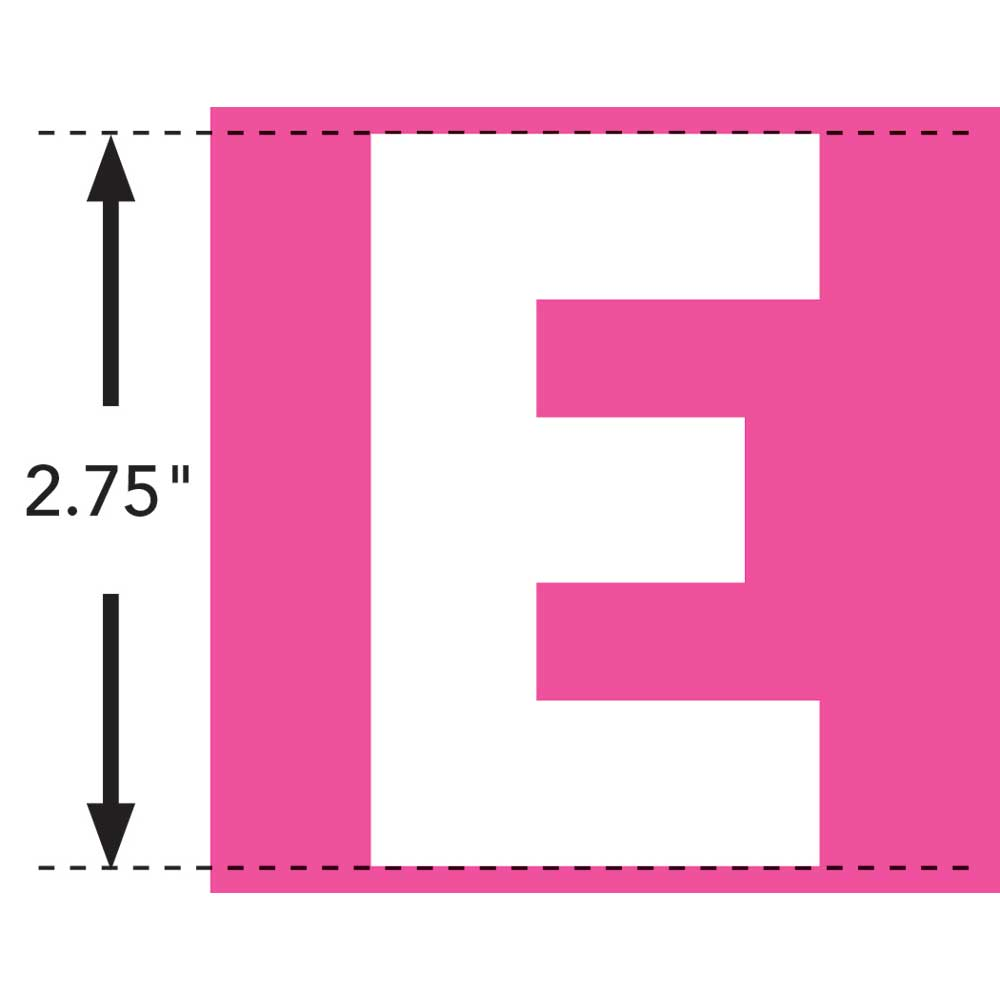 LaurDIY ® Iron-on Fabric Letters - E