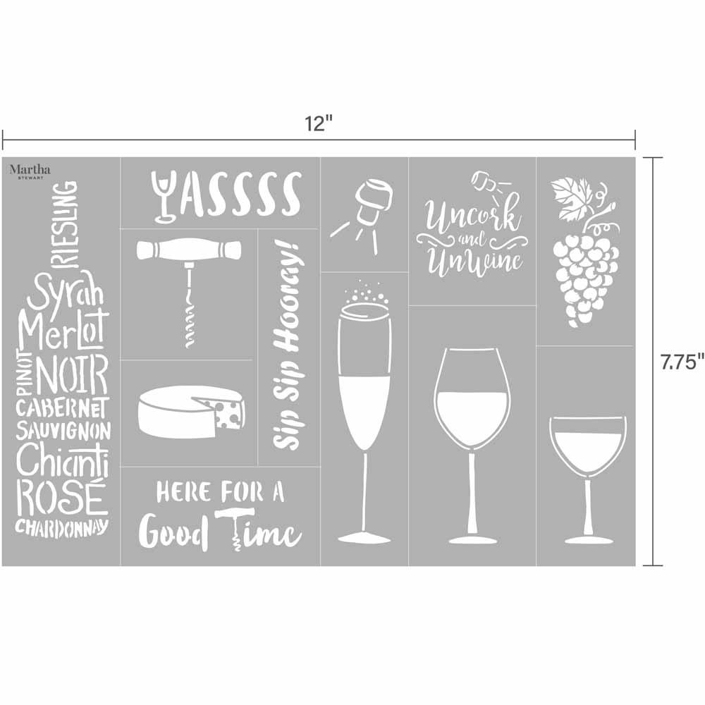 Martha Stewart ® Adhesive Stencil - Wine - 5649