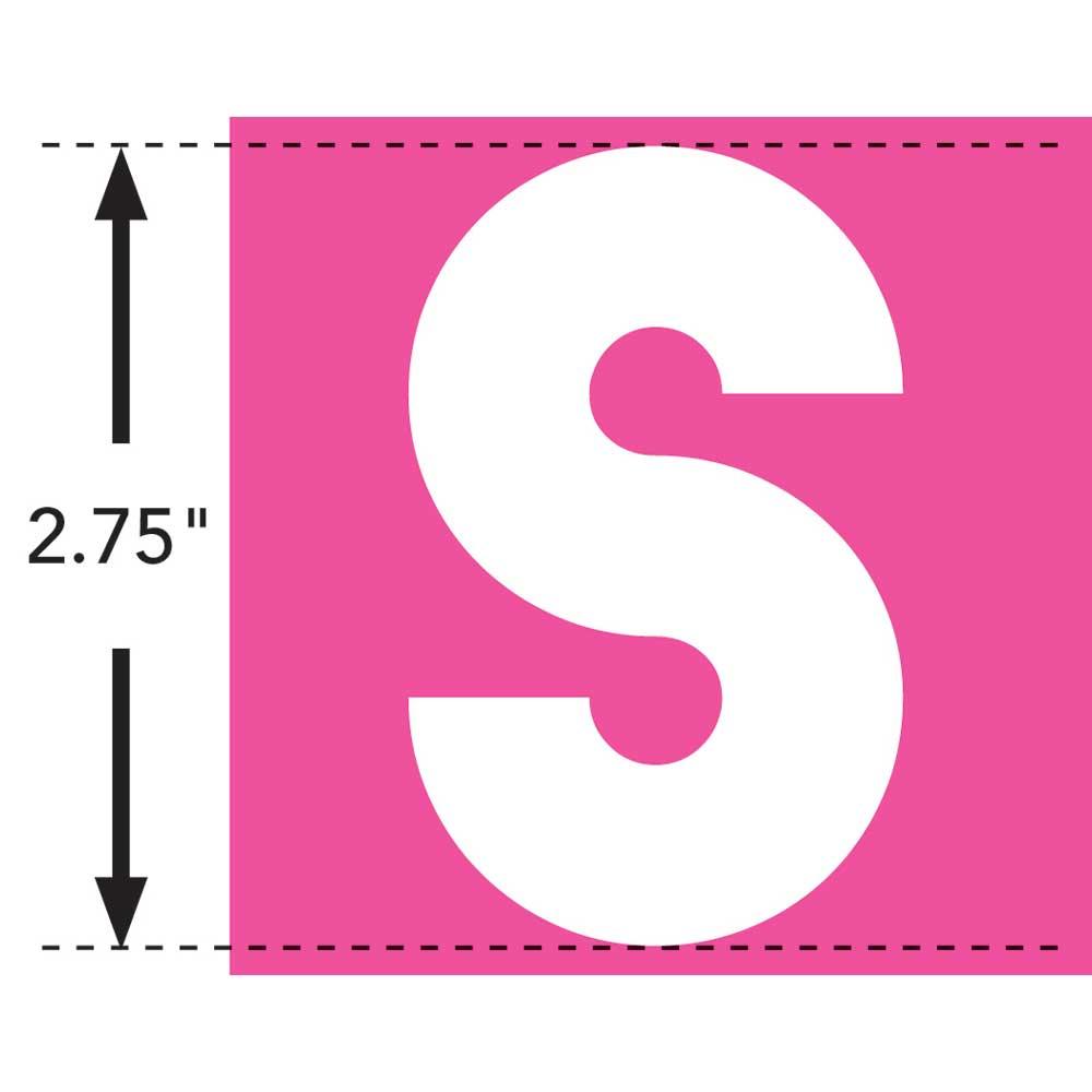 LaurDIY ® Iron-on Fabric Letters - S