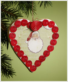 I Heart Santa Ornament