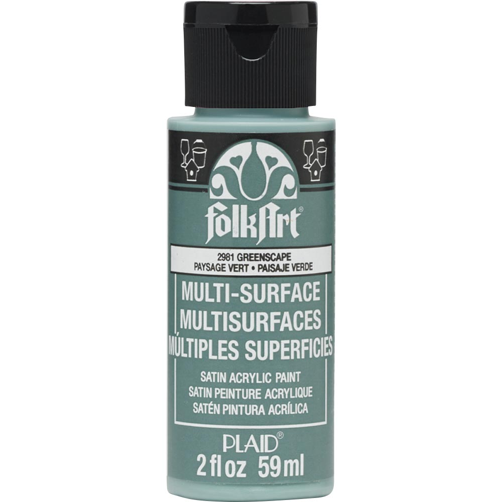 FolkArt ® Multi-Surface Satin Acrylic Paints - Greenscape, 2 oz.