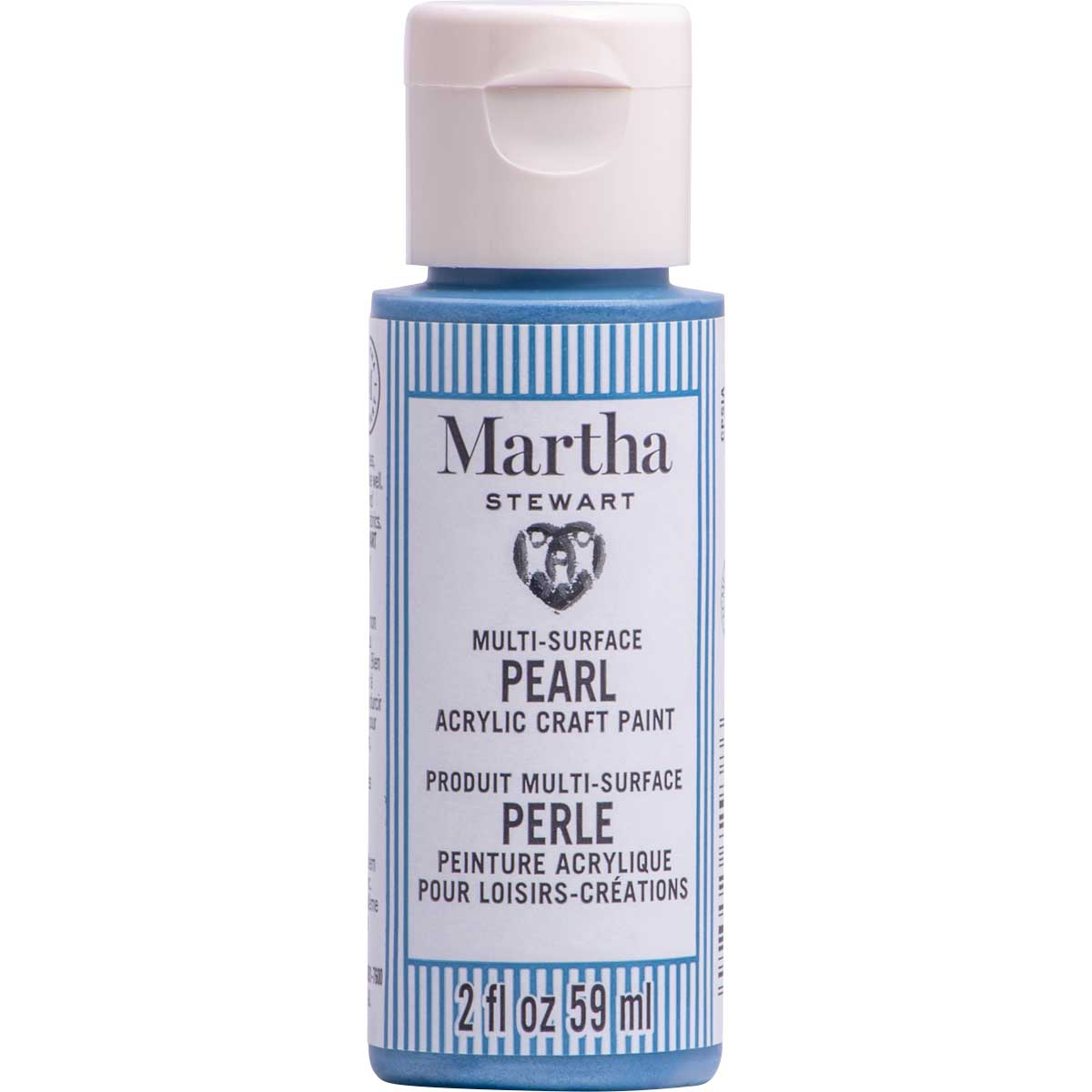 Martha Stewart® 2oz Multi-Surface Pearl Acrylic Craft Paint - Frost Blue