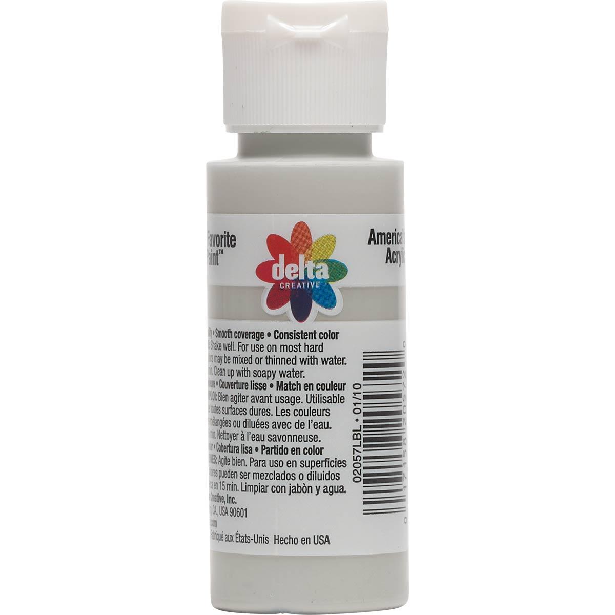 Delta Ceramcoat ® Acrylic Paint - Quaker Grey, 2 oz.