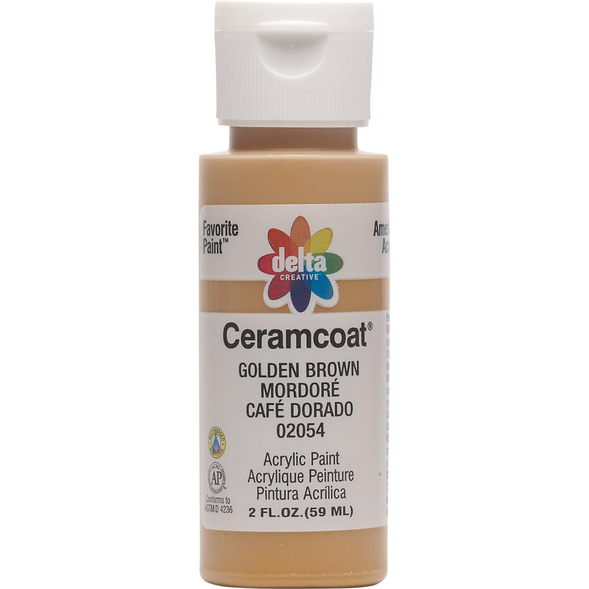 Delta Ceramcoat ® Acrylic Paint - Golden Brown, 2 oz. - 020540202W