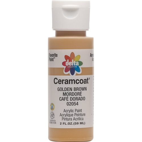 Delta Ceramcoat ® Acrylic Paint - Golden Brown, 2 oz.