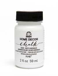 FolkArt ® Home Decor™ Chalk - White Adirondack, 2 oz. - 36300