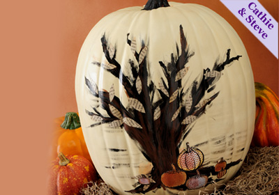 Spooky Tree Pumpkin