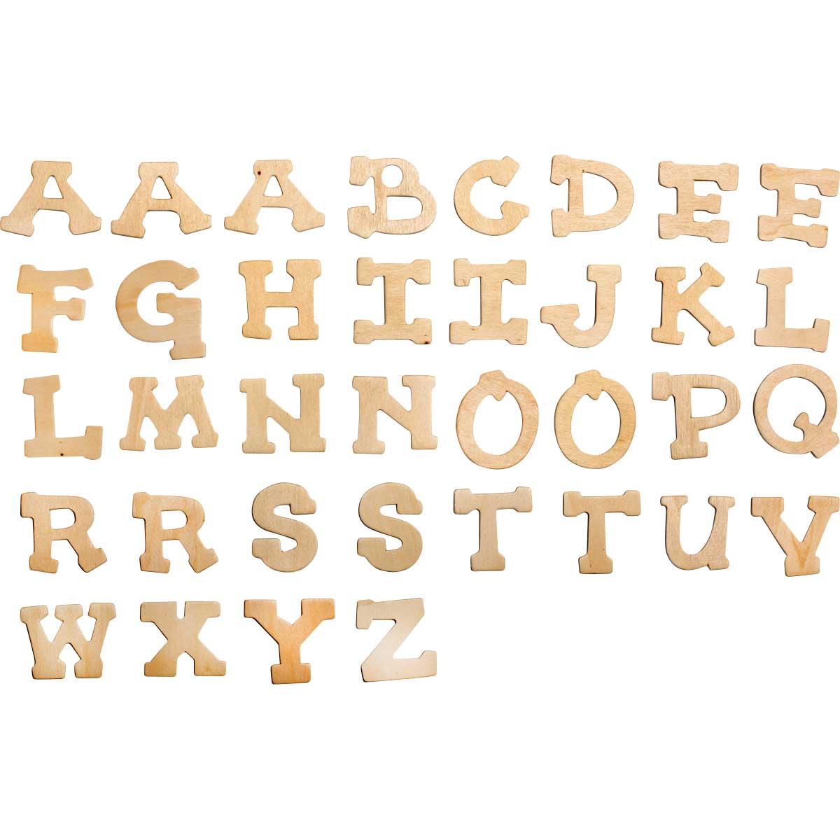 Plaid ® Wood Surfaces - Letter Packs - Fun Font