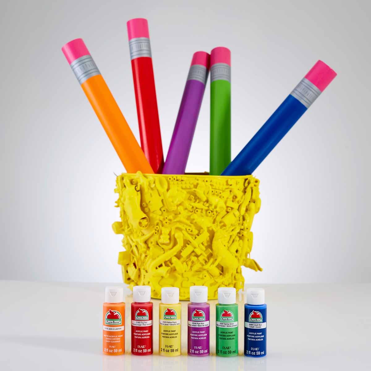 Apple Barrel Pencils and Pencil Holder