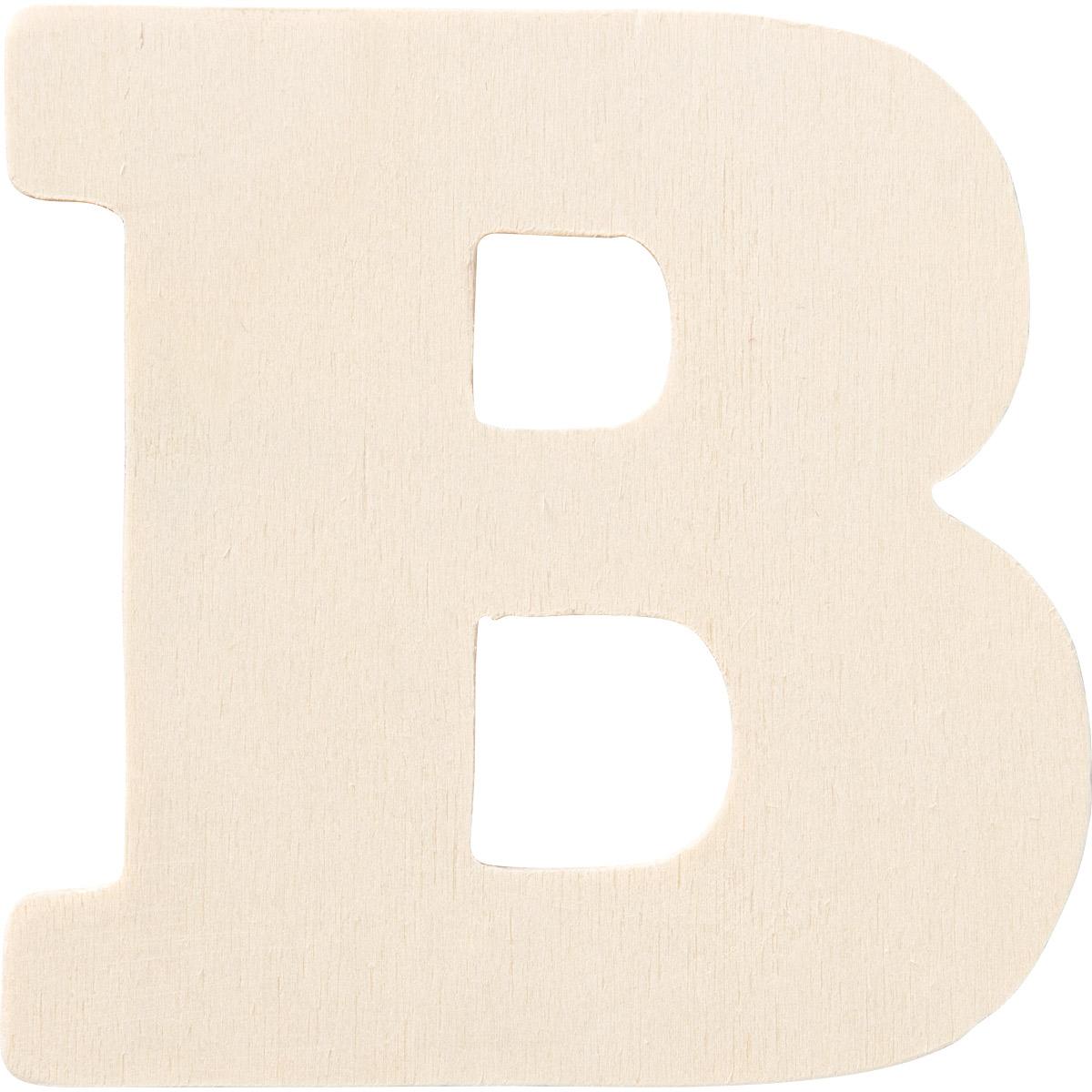 Plaid ® Painter's Palette™ Wood Letter - B. 4 inch - 23791