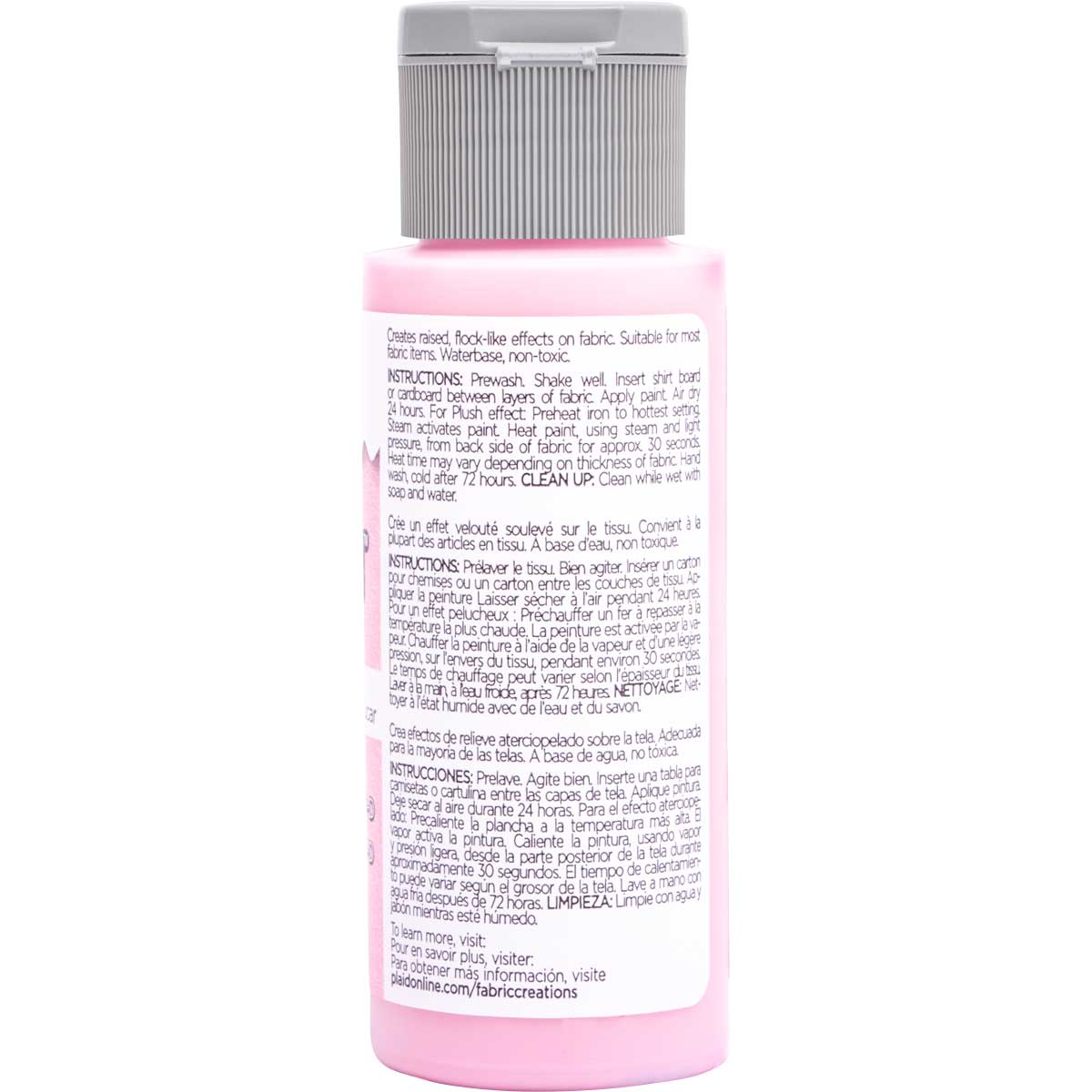 Fabric Creations™ Plush™ 3-D Fabric Paints - Cotton Candy, 2 oz.