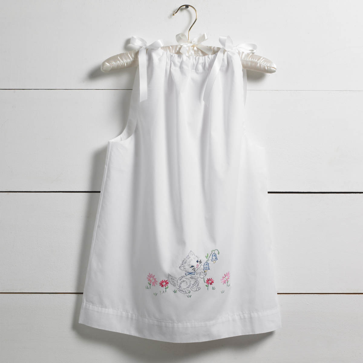 Bucilla ® Stamped Cross Stitch & Embroidery - Pillowcase Dress - Kitten
