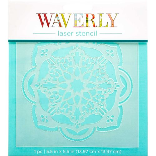 "Waverly ® Laser Stencils - Tile Medallion, 5.5"" x 5.5"" - 36419"