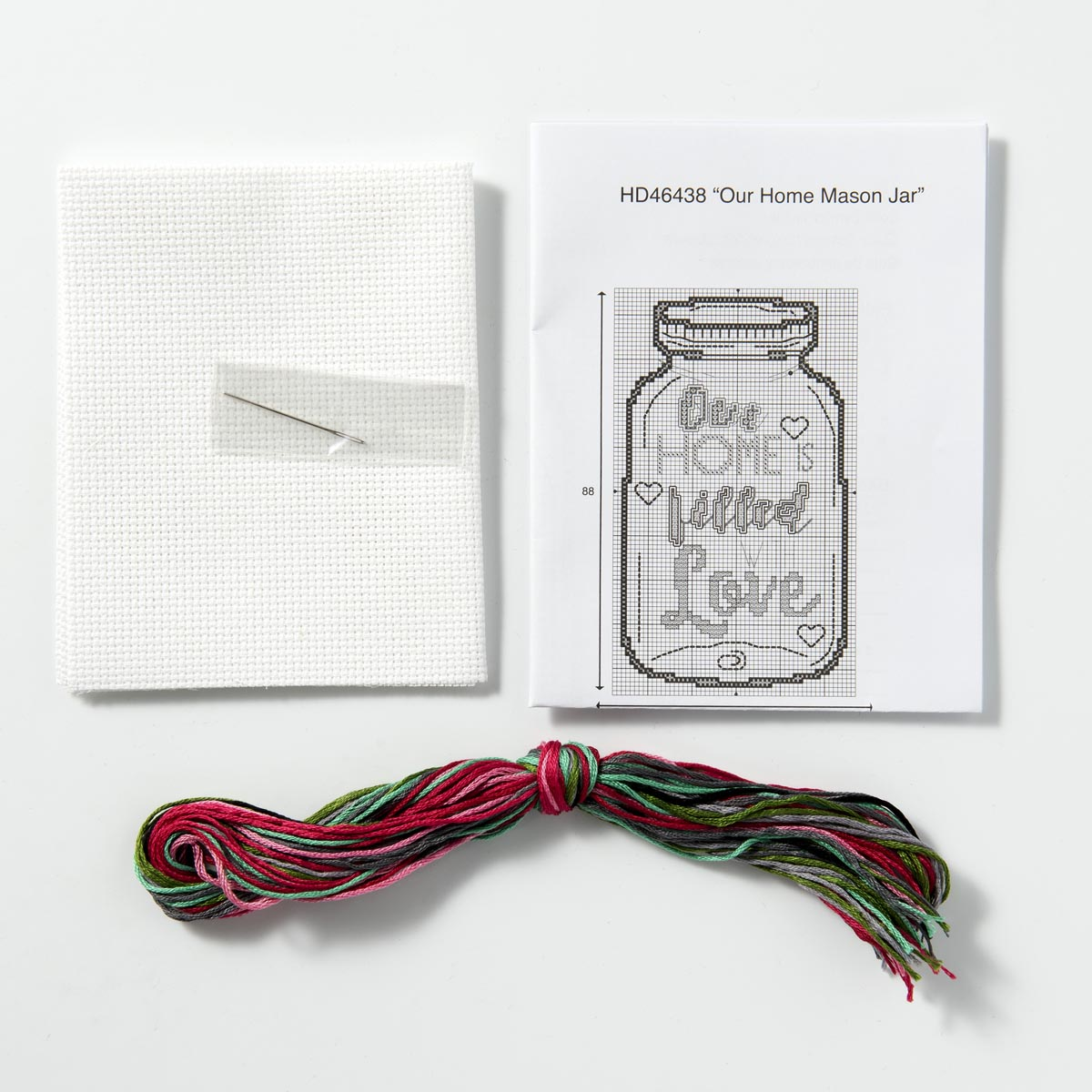 Bucilla ® My 1st Stitch™ - Counted Cross Stitch Kits - Our Home Mason Jar - WM46438E