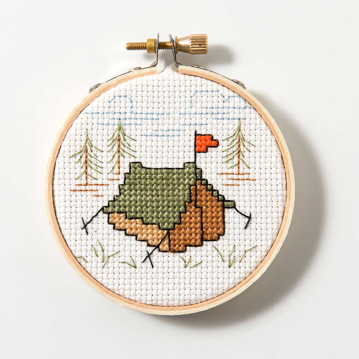Free Pattern for Cross Stitch - Celebrate National Camping Month