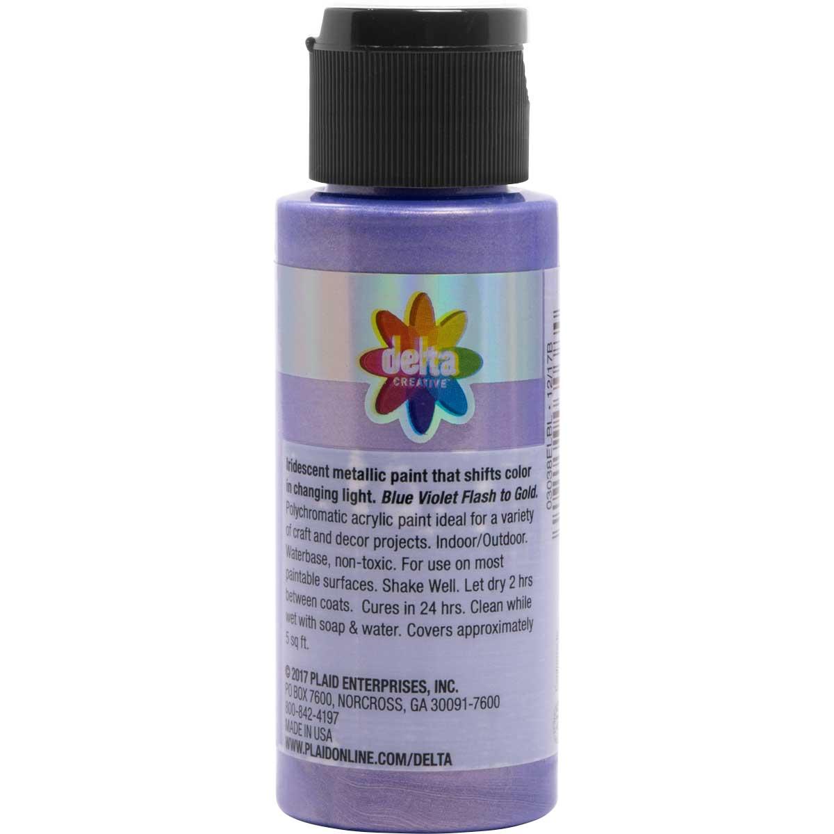 Delta Ceramcoat ® Acrylic Paint - Flash Metallic Blue Violet, 2 oz. - 03038