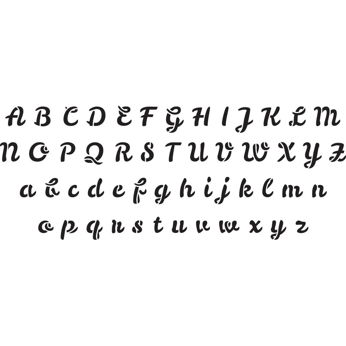 Delta Creative™ Stencil - Script Alphabet