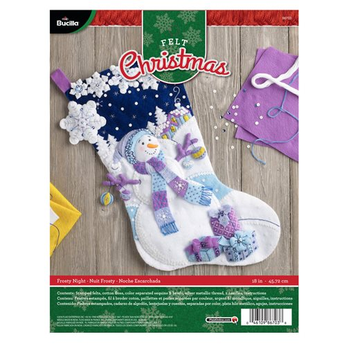 Bucilla ® Seasonal - Felt - Stocking Kits - Frosty Night