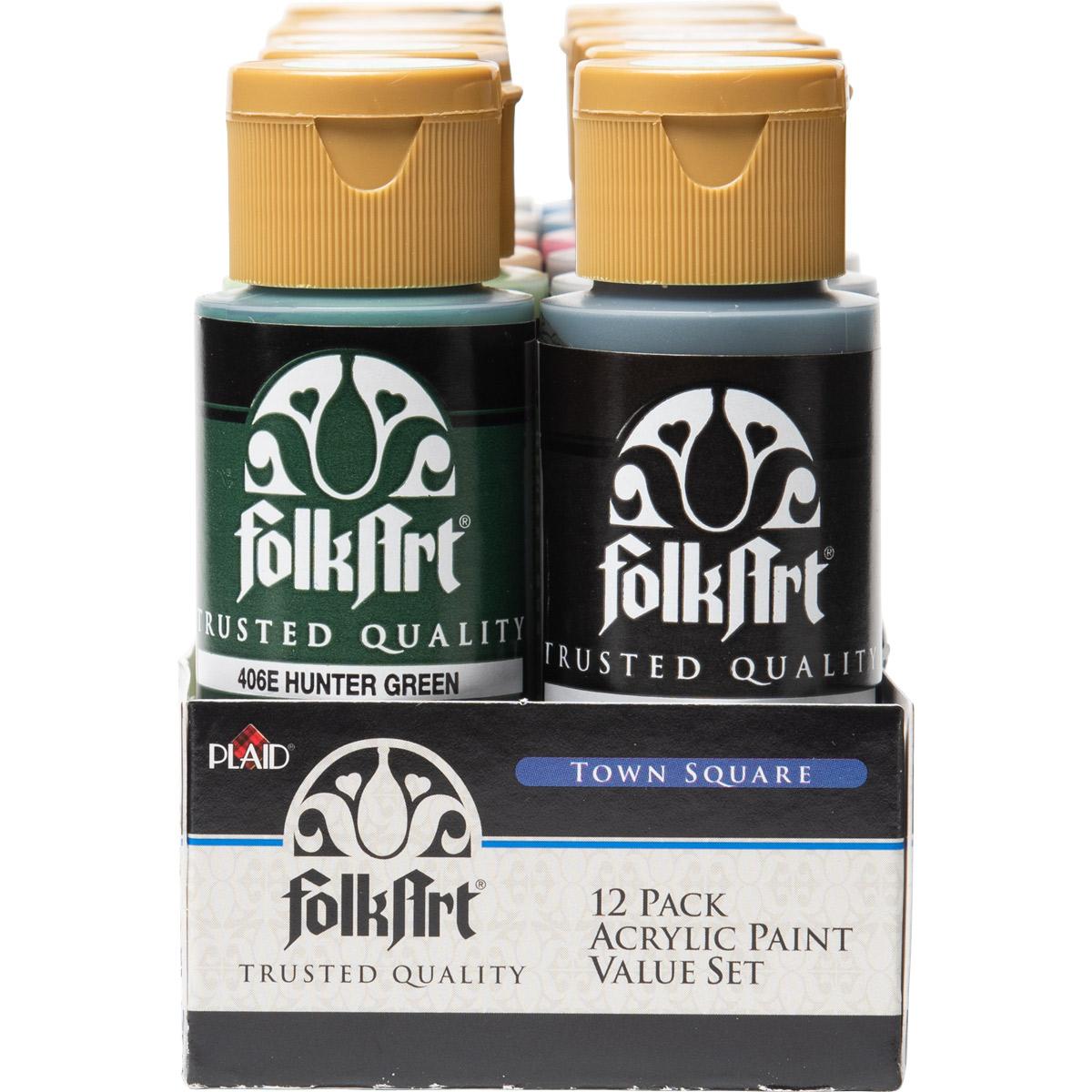 FolkArt ® Acrylic Colors Value Paint Set - Town Square, 12 Colors