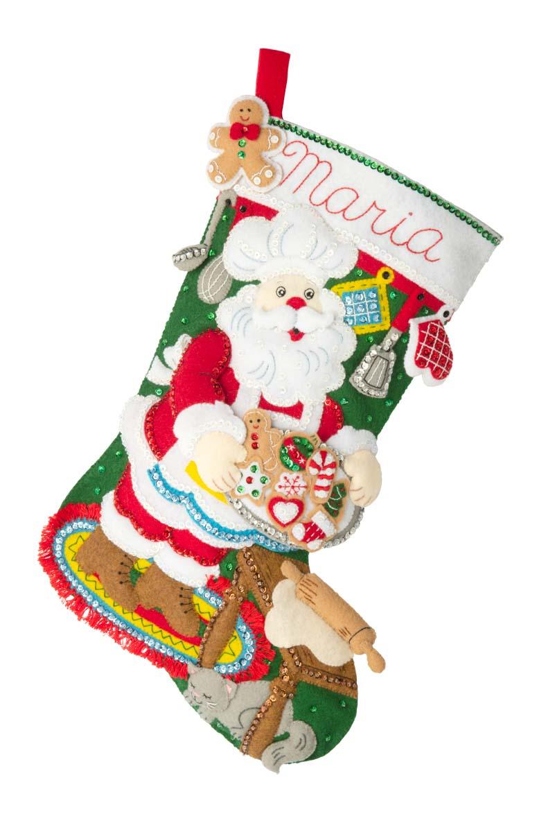 Bucilla ® Seasonal - Felt - Stocking Kits - Gingerbread Santa - 89312E